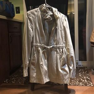 H&M Khaki mid-thigh length spring jacket